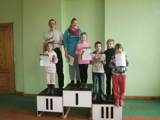 1.vieta - Kate un Kristīne Krēsliņas, 2.vieta - Nikola un Mārtiņš Puškas, 3.vieta - Megija Tropa, Daniels Pauls, Jānis Kaspars Blaus(visi 2.klase)